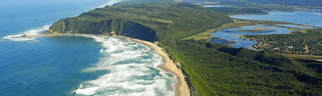 Aerial View of Swarvlei Beach, Sedgefield, South Africa