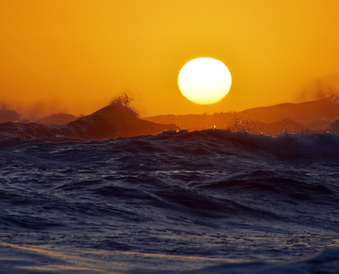 Sun sinking into the sea - Sedgefield South Africa
